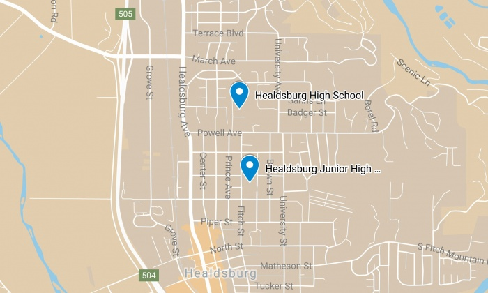Healdsburg Unified School District Map
