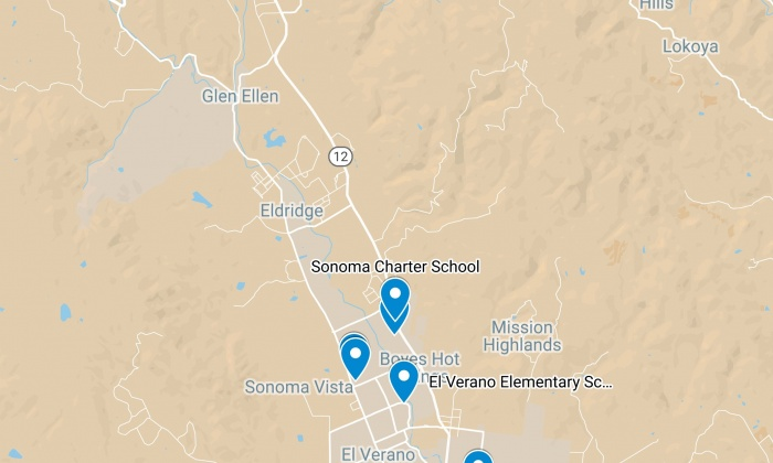Sonoma Valley Unified School District Map